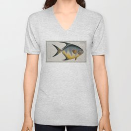 Vintage Illustration of an AngelFish (1785) Unisex V-Neck
