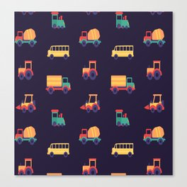 Car Pattern Vector Canvas Print