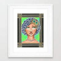 the great gatsby Framed Art Prints featuring Great Gatsby by Jaymee Laws