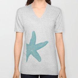 Aqua Starfish Unisex V-Neck