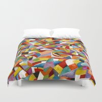 lv Duvet Covers featuring I LV YOU! by Erick Stow