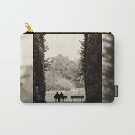Couple sitting on bench Carry-All Pouch