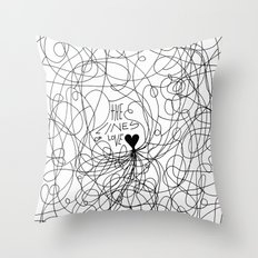 The lines of Love - White version. Throw Pillow