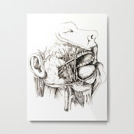 Anatomy: Study 1 Salivating Zombie Metal Print