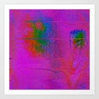 11-23-56 (Moving Circles Glitch) Art Print