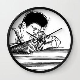 Morton Feldman (Lines Only) Wall Clock