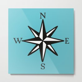 Compass Rose NOSW (Two-Color) Metal Print
