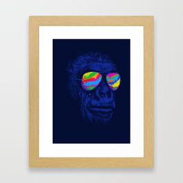 Blue Gorilla Framed Art Print