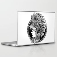 headdress Laptop & iPad Skins featuring Headdress by BIOWORKZ