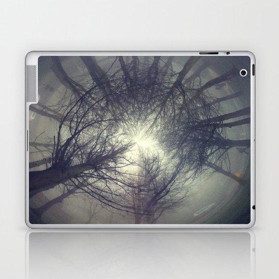 Circle of misty trees Laptop & iPad Skin