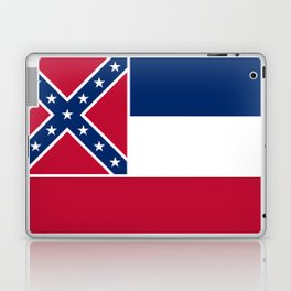 Mississippi State Flag, Authentic Version Laptop & iPad Skin