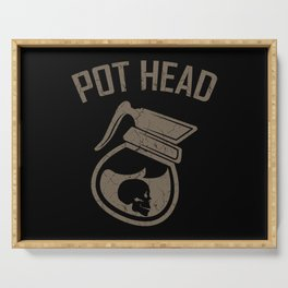 POT HEAD COFFEE QUOTE Gift Coffee Lover Barista Serving Tray