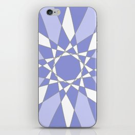 Blue Crystal iPhone Skin