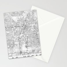 Las Vegas Map Line Stationery Cards
