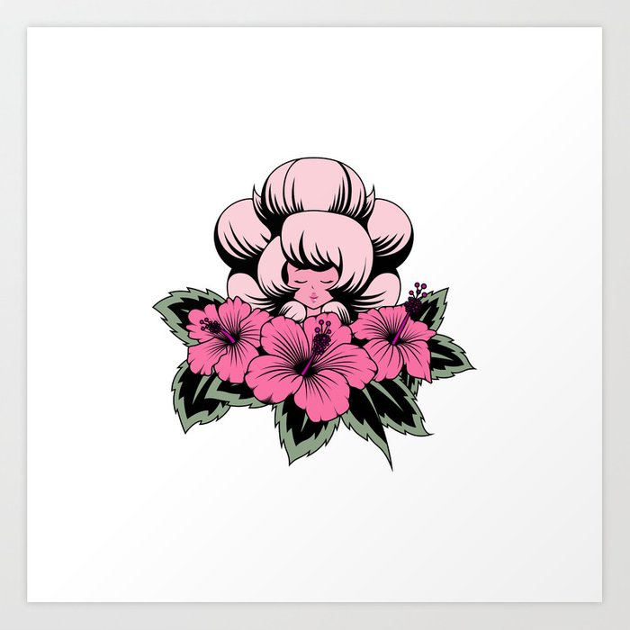 Pink Diamond Tattoo Art Print By Slothgirlart