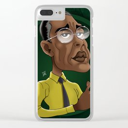 Gus Fring art Clear iPhone Case