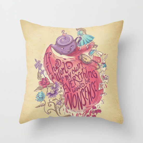Lewis Carroll Throw Pillow