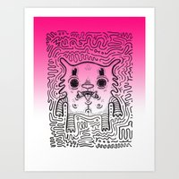 CAT Aka. RE. Creature n0#33 Art Print