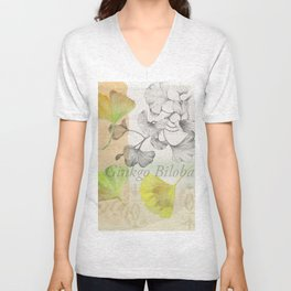 Ginkgo Biloba by Journey Home Made Unisex V-Neck
