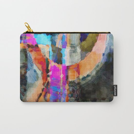 Artful Spirit Mosaic Colorful Geometric Abstract Carry-All Pouch