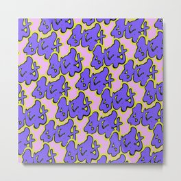 Stay Graffiti Pattern - Purple Groove Metal Print