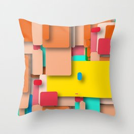 rounded rectangles Throw Pillow