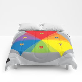Color wheel by Dennis Weber / Shreddy Studio with special clock version Comforters