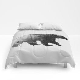 Into the Wild b&w Comforters