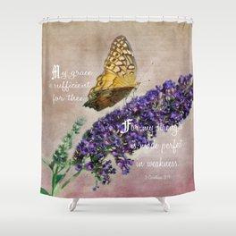 Amazing Grace - Verse Shower Curtain