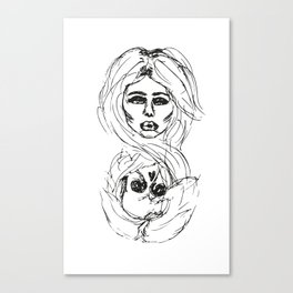 Two Faced Canvas Print