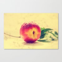 peach Canvas Prints featuring Peach  by Tanja Riedel