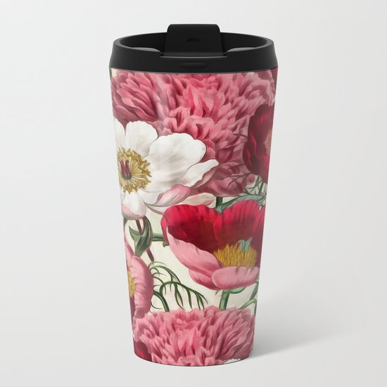 Flower garden Metal Travel Mug