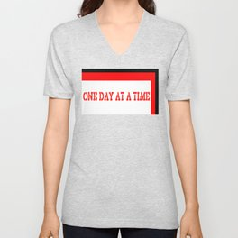 One Day at a Time (red brick) Unisex V-Neck