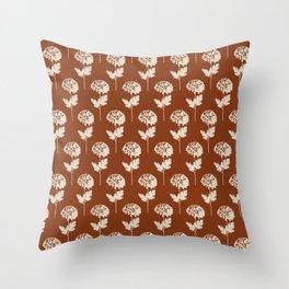 Pop Floral Terracotta Throw Pillow
