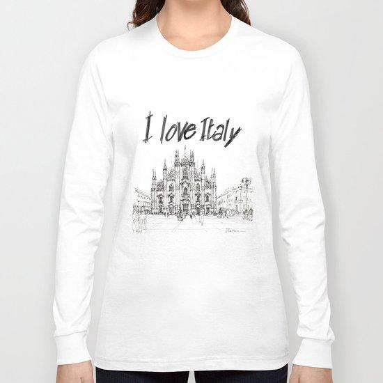 Duomo di Milano - schizzo Long Sleeve T-shirt