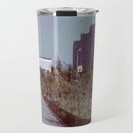 Pobedy Avenue in Amursk (1985) Travel Mug