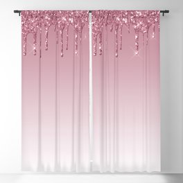 Pink Dripping Glitter Blackout Curtain
