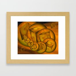 Cube Worm Framed Art Print