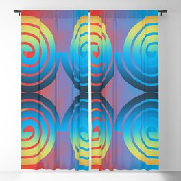 Spiral Pattern Blackout Curtain