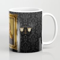 gray pattern Mugs featuring Bill Murray - replaceface by replaceface
