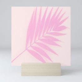 Pink Palm Leaf #decor #society6 #buyart Mini Art Print