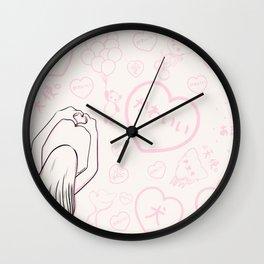 Girl and Kawaii Animals Wall Clock