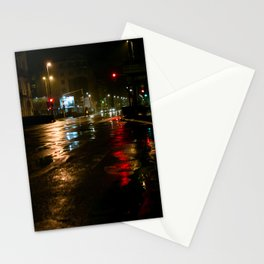 Night streets Subotica Stationery Cards