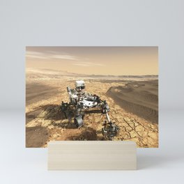 This is a Mars Rover Portrait, 2020 Mars Exploration, NASA, Outer Space Mini Art Print