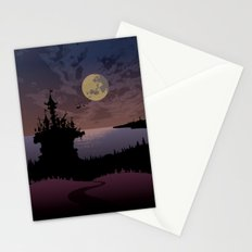 Halloween castle Stationery Cards