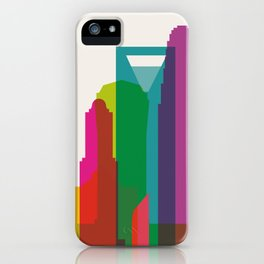 Shapes of Charlotte accurate to scale iPhone Case