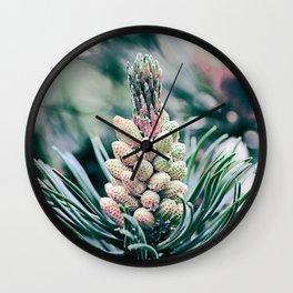 Pine branch Wall Clock