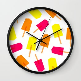 Ice Lollies 01 Wall Clock