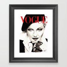 Madonna. Vogue Magazine Cover. Fashion Illustration Framed Art Print