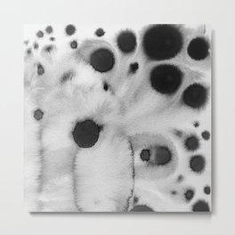 Black ink holes - in a watercolor based universe III Metal Print